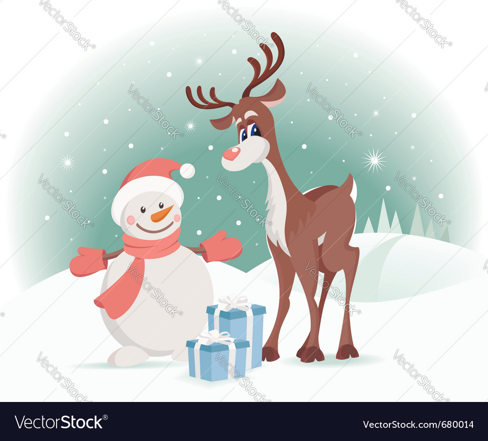 Rudolph reindeer vector | Price:  Credit (USD $)