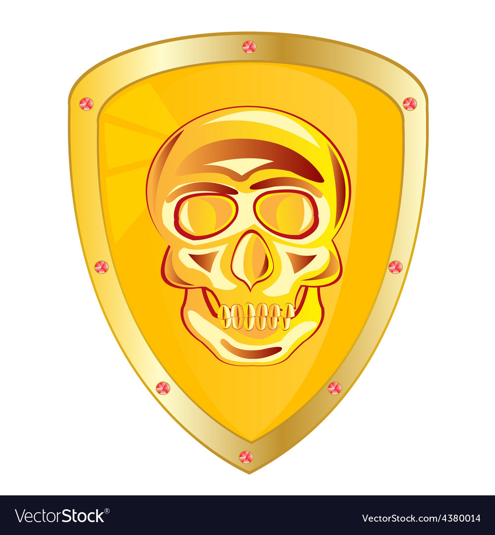 Yellow shield vector | Price: 1 Credit (USD $1)