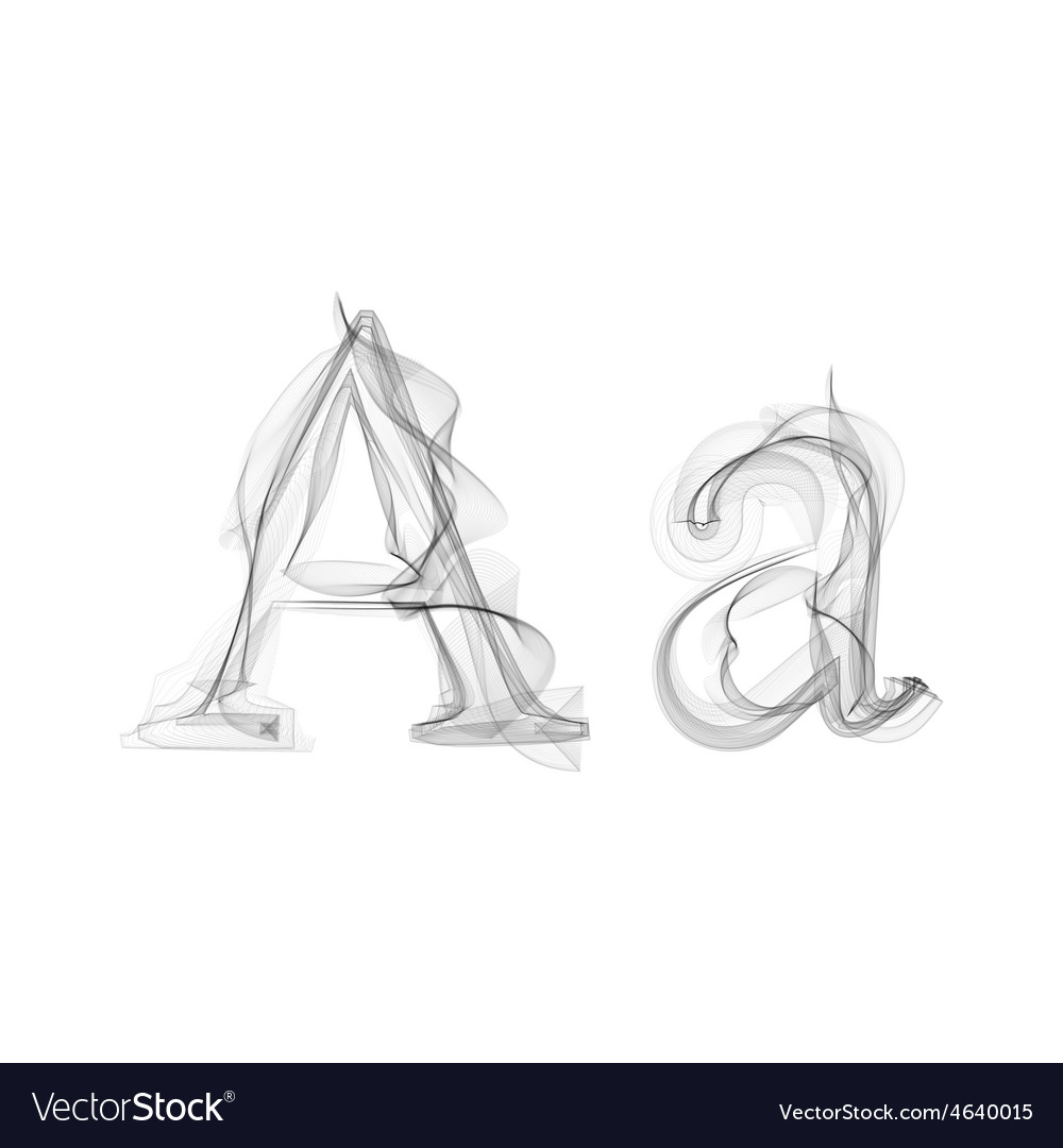 Black smoke font letter a vector   Price: 1 Credit (USD $1)