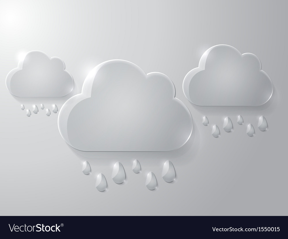 Cloud with drops vector | Price: 1 Credit (USD $1)