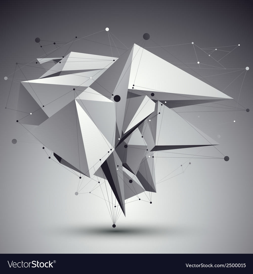 Contemporary techno black and white stylish vector | Price: 1 Credit (USD $1)