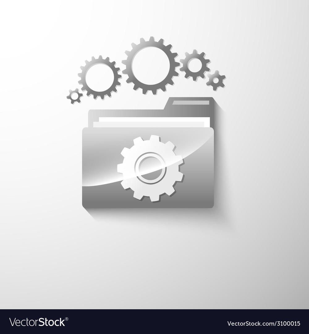 Gear folder vector | Price: 1 Credit (USD $1)