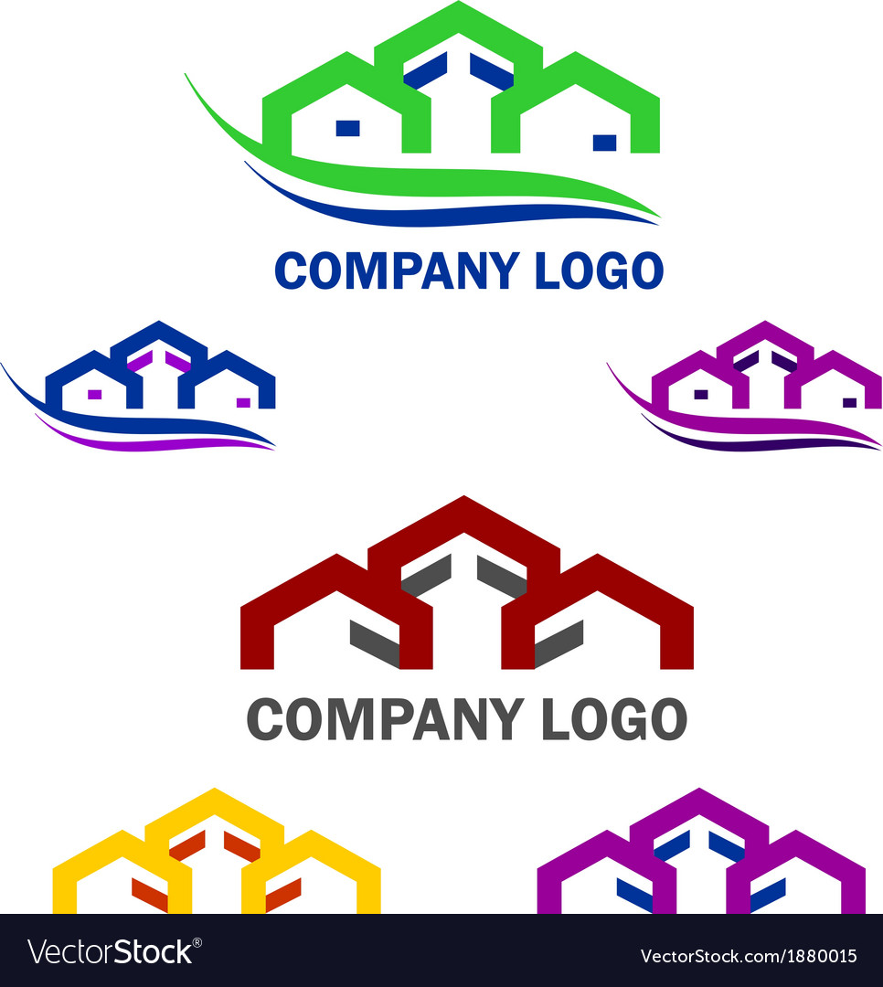 Home and construction logo and web icon set vector | Price: 1 Credit (USD $1)