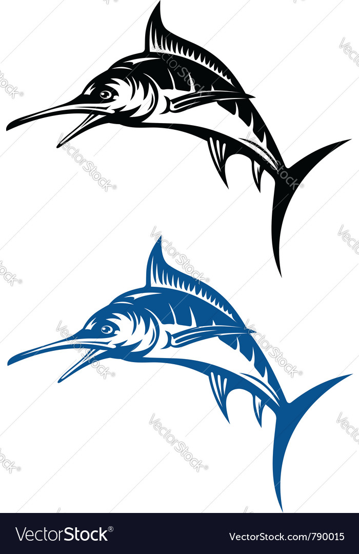 Marlin fish vector | Price: 1 Credit (USD $1)