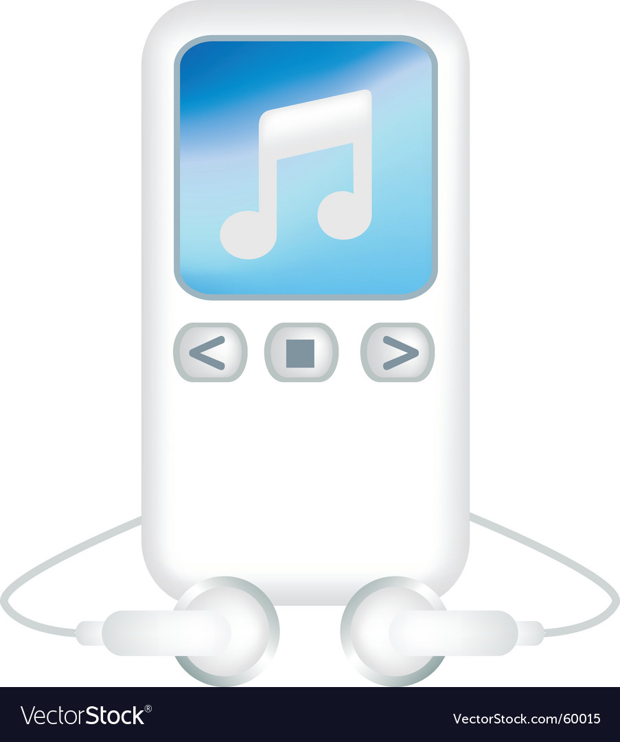 Mp3 player vector   Price: 1 Credit (USD $1)