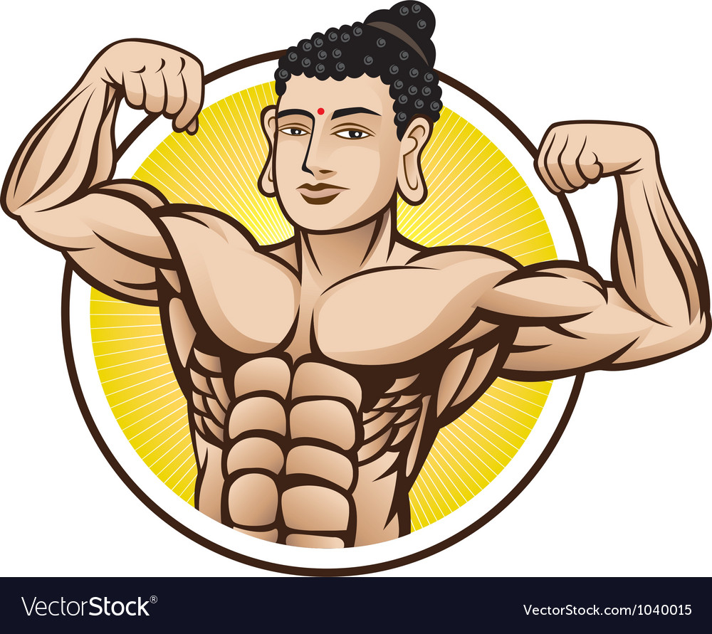Muscle buddha vector | Price: 3 Credit (USD $3)