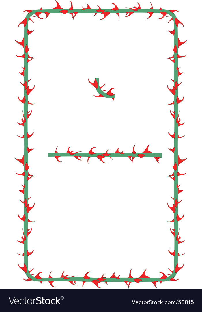 Rose thorns border vector | Price: 1 Credit (USD $1)