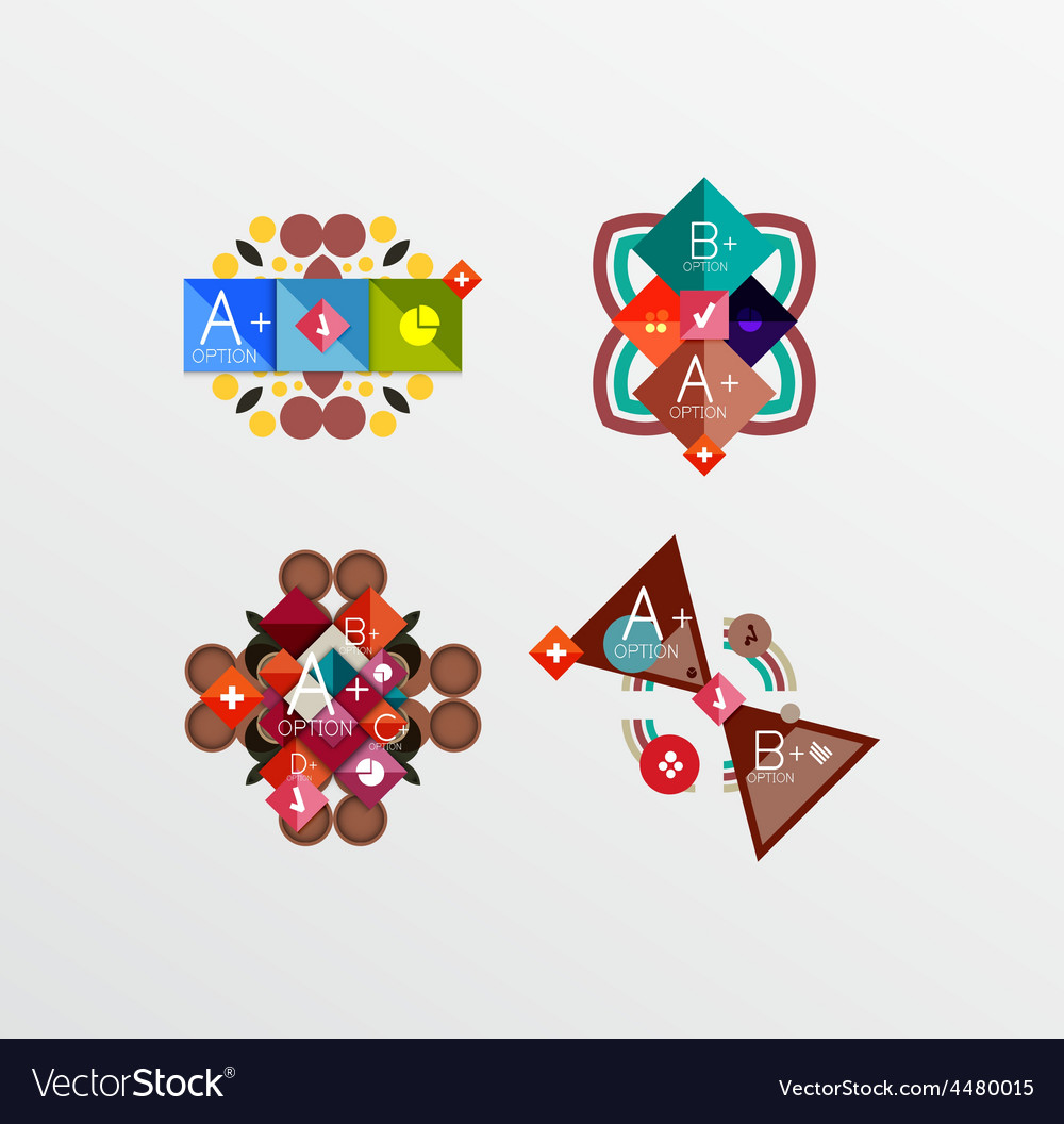 Set of abstract geometric shapes with options vector | Price: 1 Credit (USD $1)