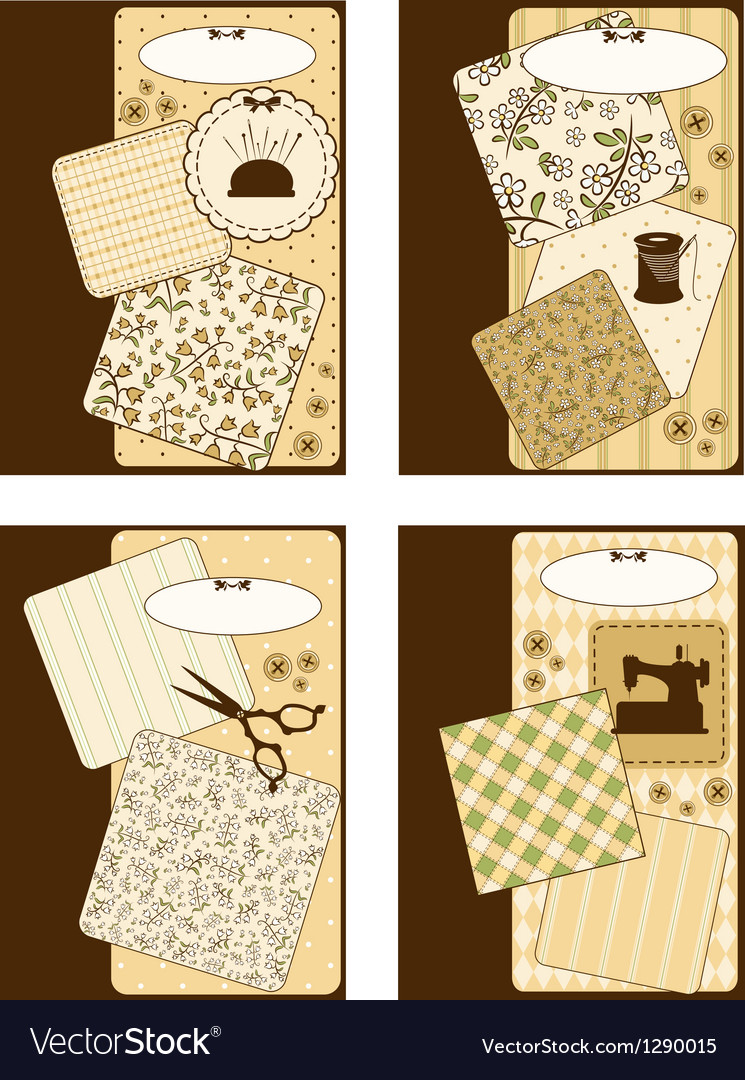 Vintage sewing elements on the background vector   Price: 1 Credit (USD $1)