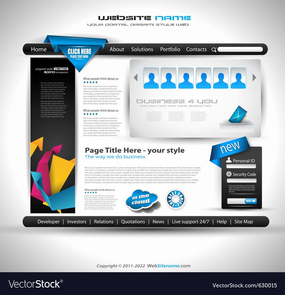 Website document vector | Price: 3 Credit (USD $3)