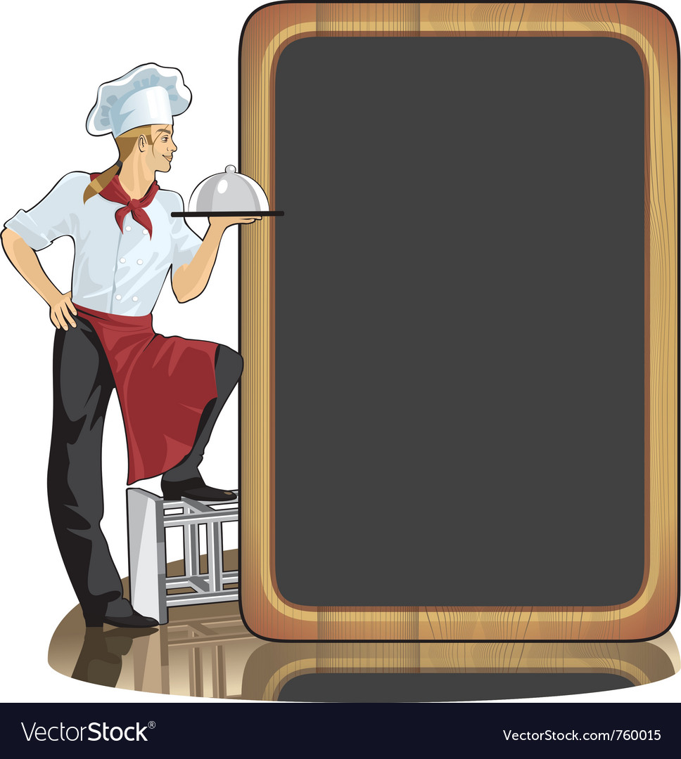 Young man cook vector | Price: 3 Credit (USD $3)