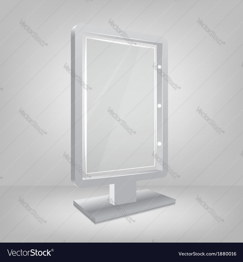 Advertising billboard vector | Price: 1 Credit (USD $1)