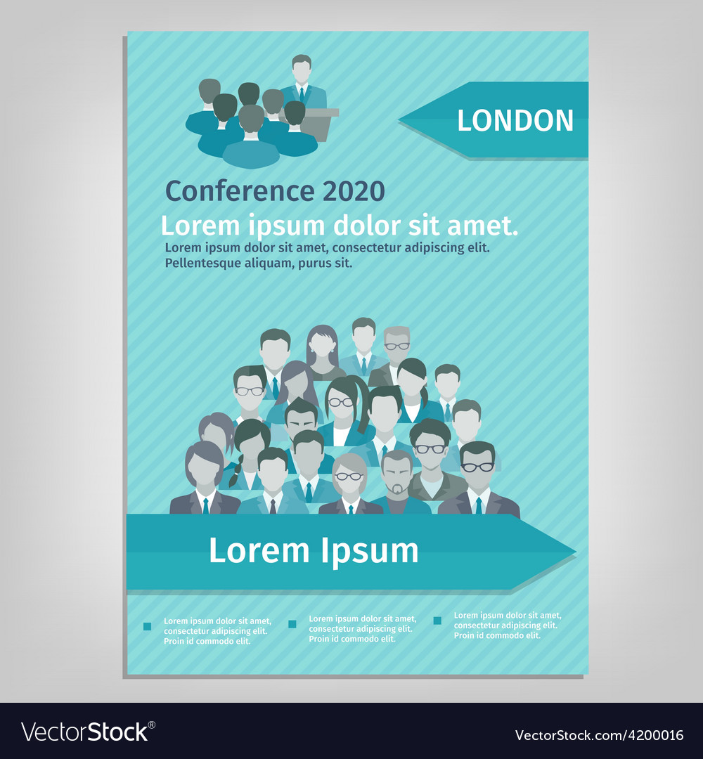 Brochure conference vector | Price: 1 Credit (USD $1)