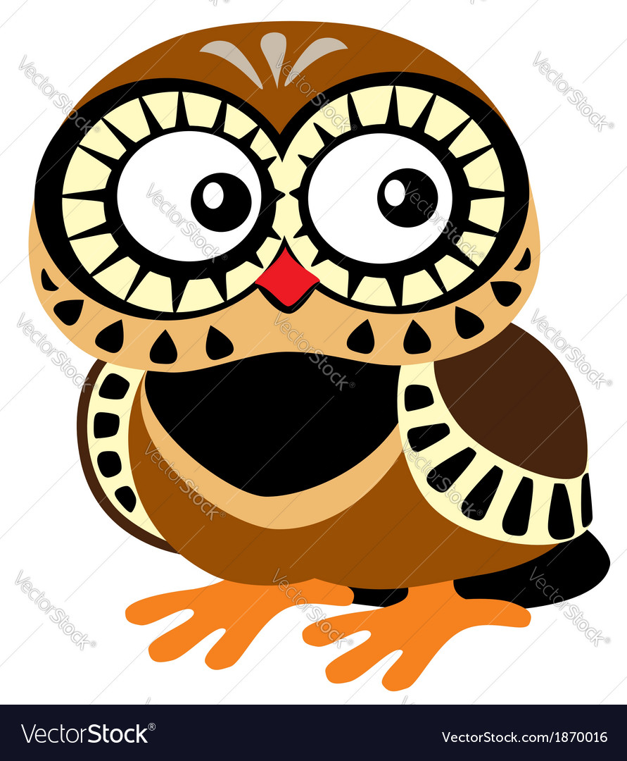 Cartoon owl vector | Price: 1 Credit (USD $1)
