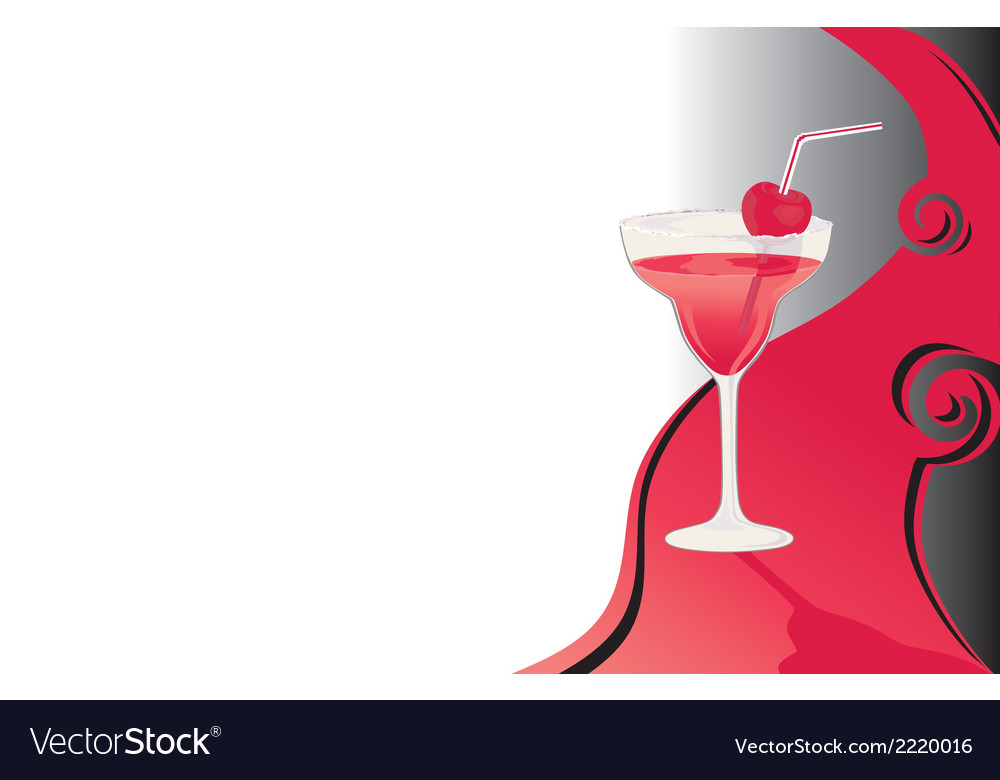 Cocktail card black and red vector | Price: 1 Credit (USD $1)