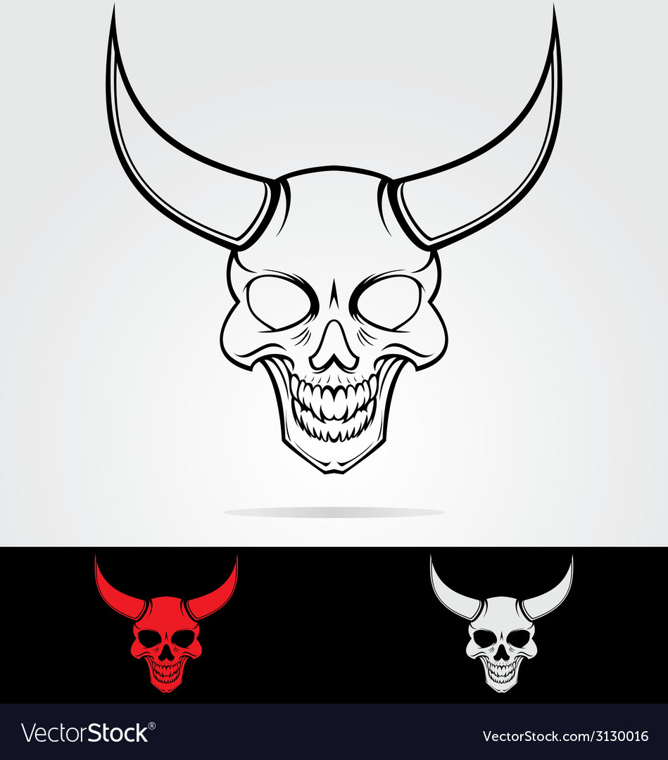 Devils head tribal vector | Price: 1 Credit (USD $1)