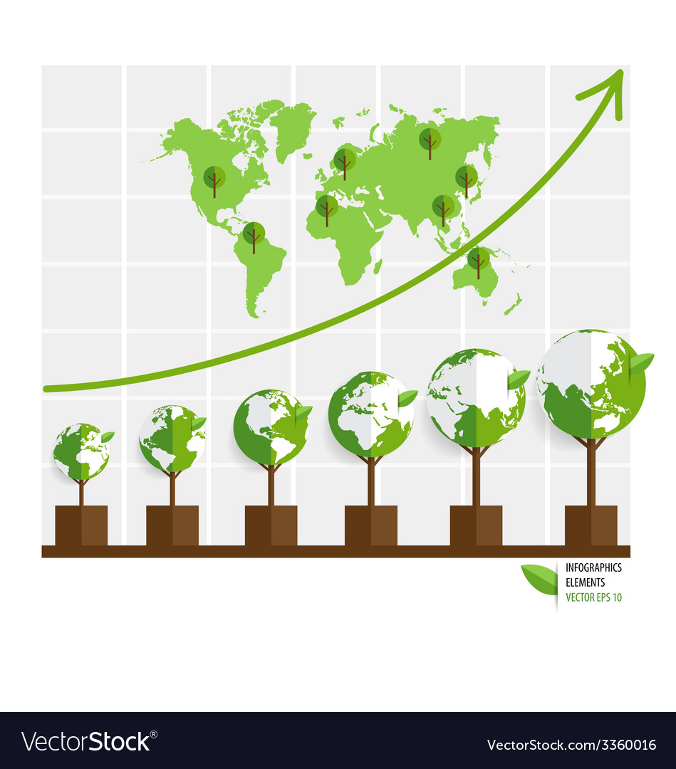 Ecology infographics design elements graph of vector   Price: 1 Credit (USD $1)