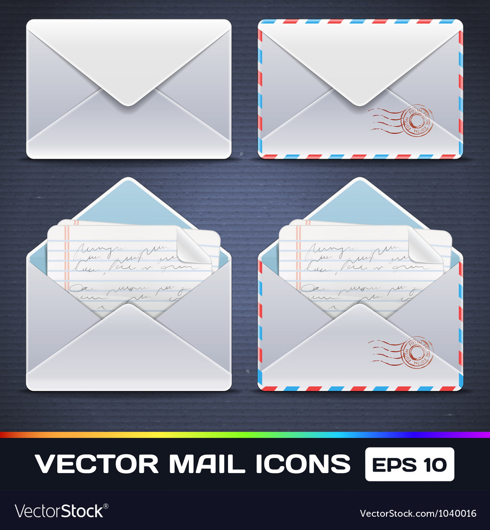 E-mail icons vector | Price: 3 Credit (USD $3)