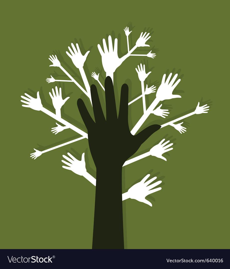 Hand tree vector | Price: 1 Credit (USD $1)