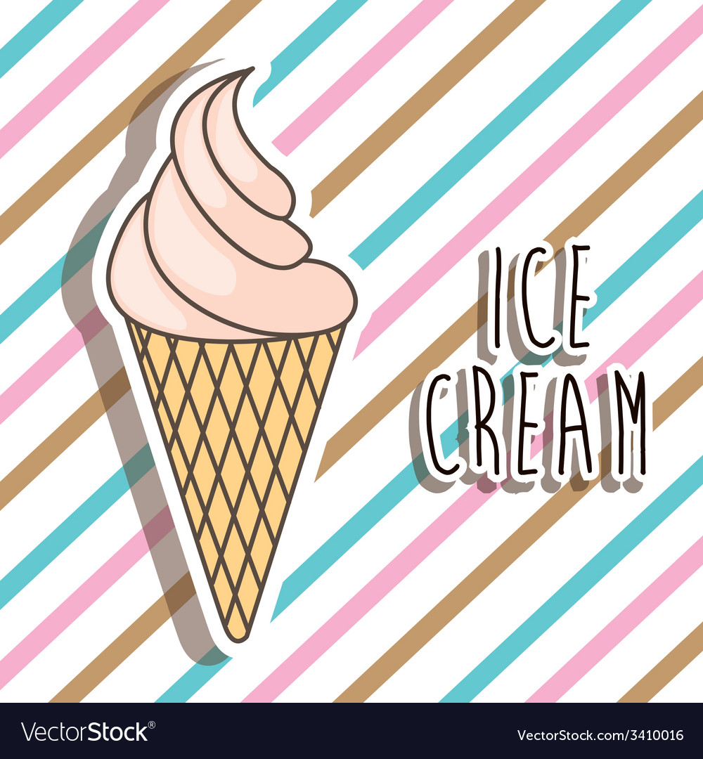 Ice cream design vector | Price: 1 Credit (USD $1)
