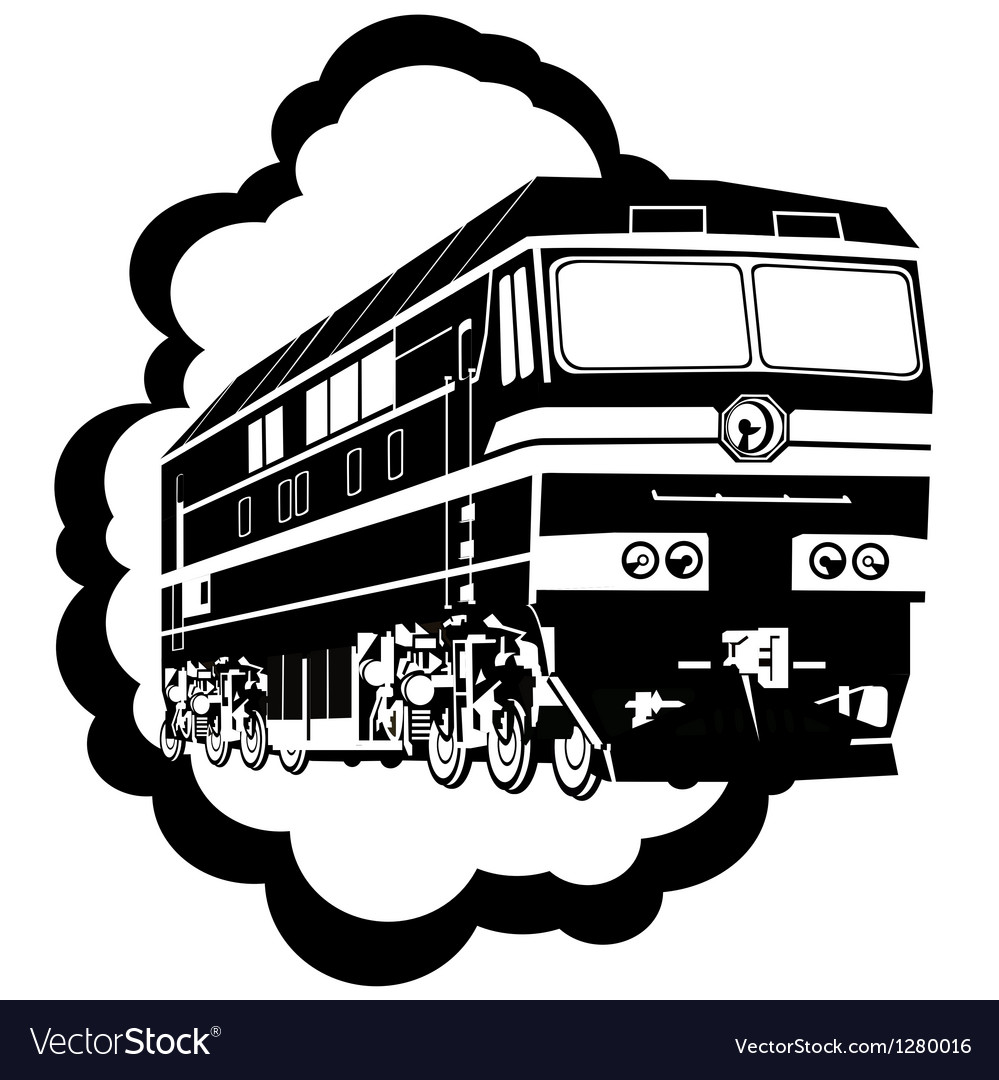 Modern locomotive vector | Price: 1 Credit (USD $1)