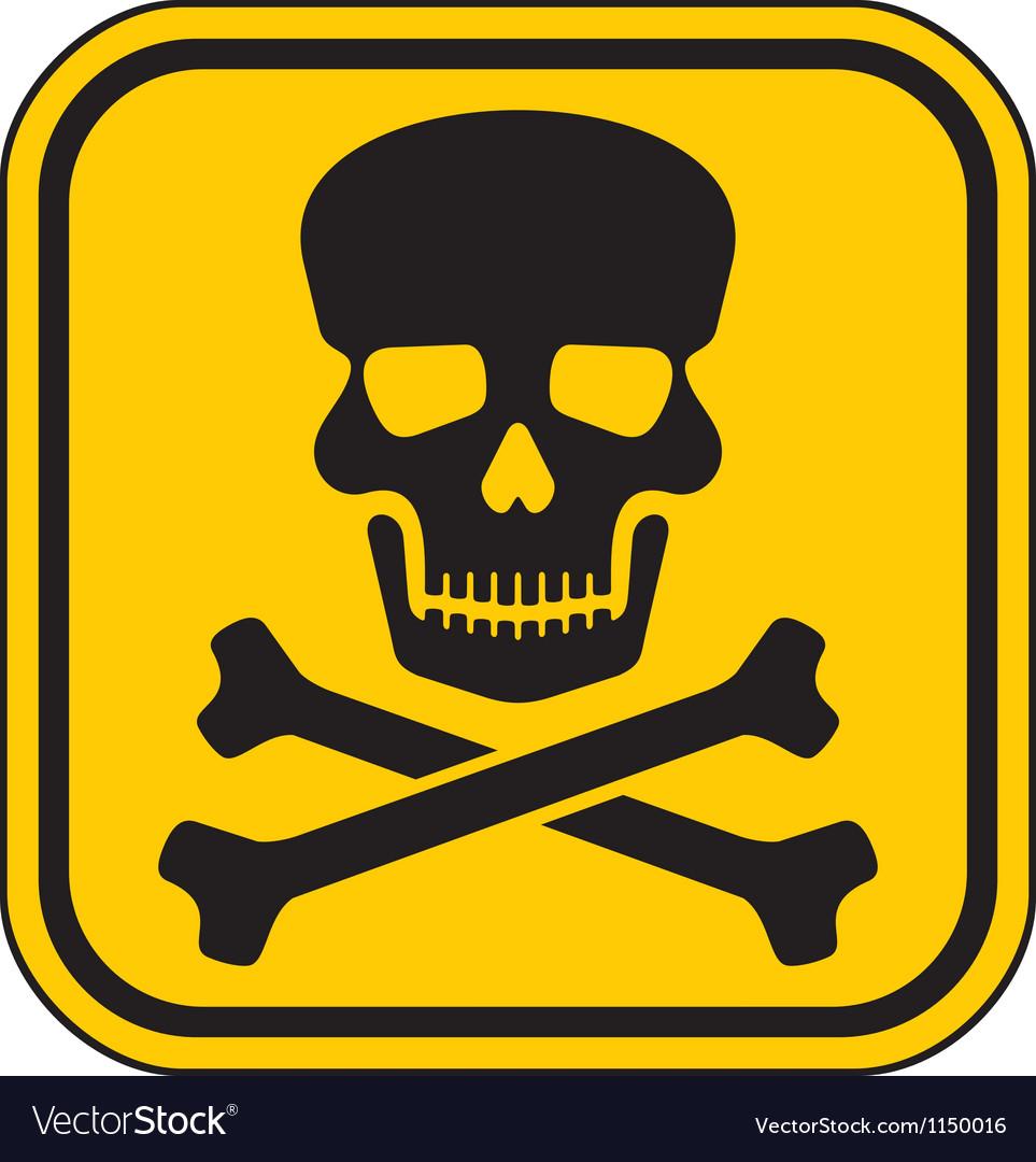 Skull danger sign-warning sign vector | Price: 1 Credit (USD $1)