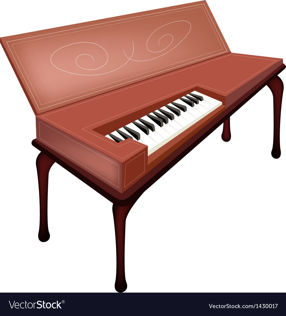 A retro clavichord isolated on white background vector | Price: 1 Credit (USD $1)