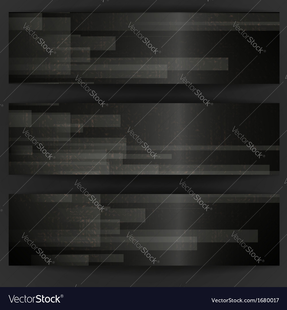 Abstract black rectangle shapes banner vector | Price: 1 Credit (USD $1)