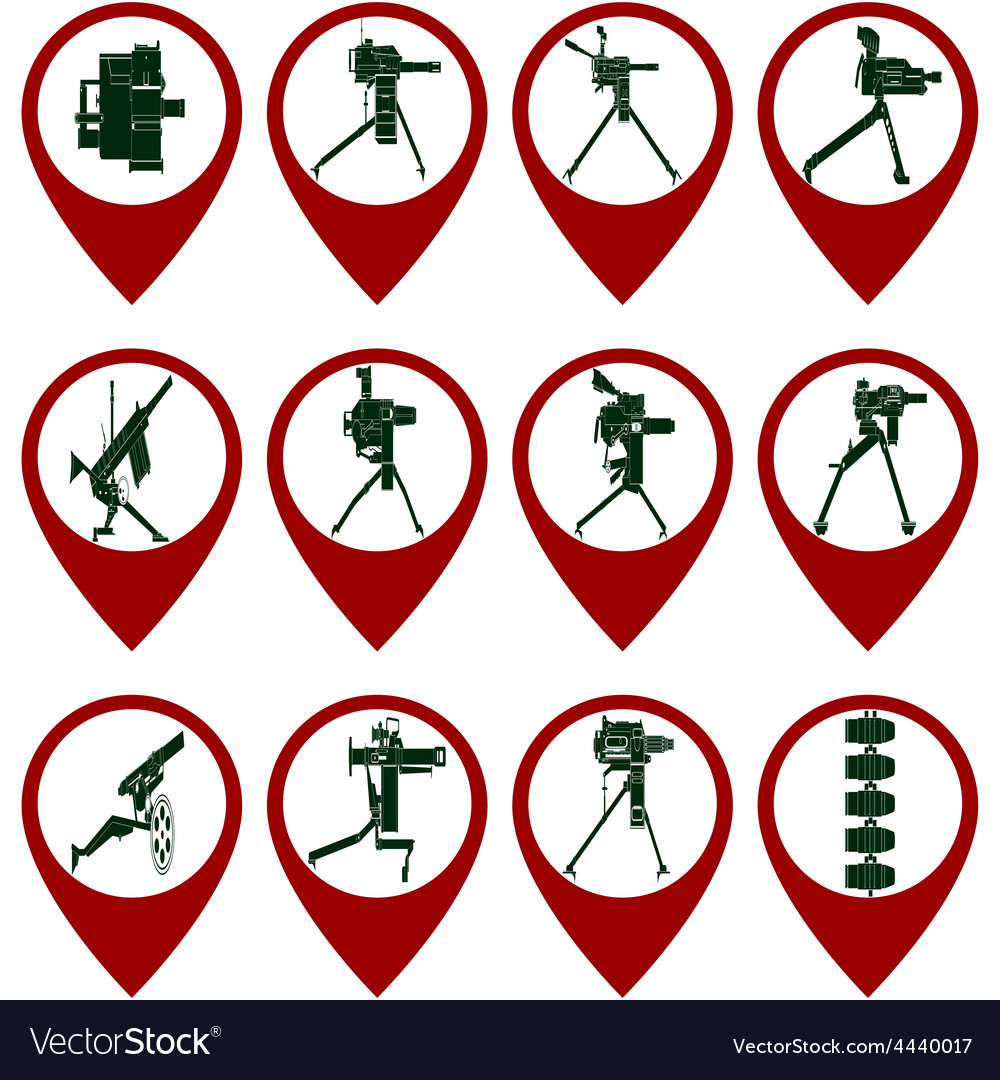 Badges with mounted grenade launchers vector | Price: 1 Credit (USD $1)