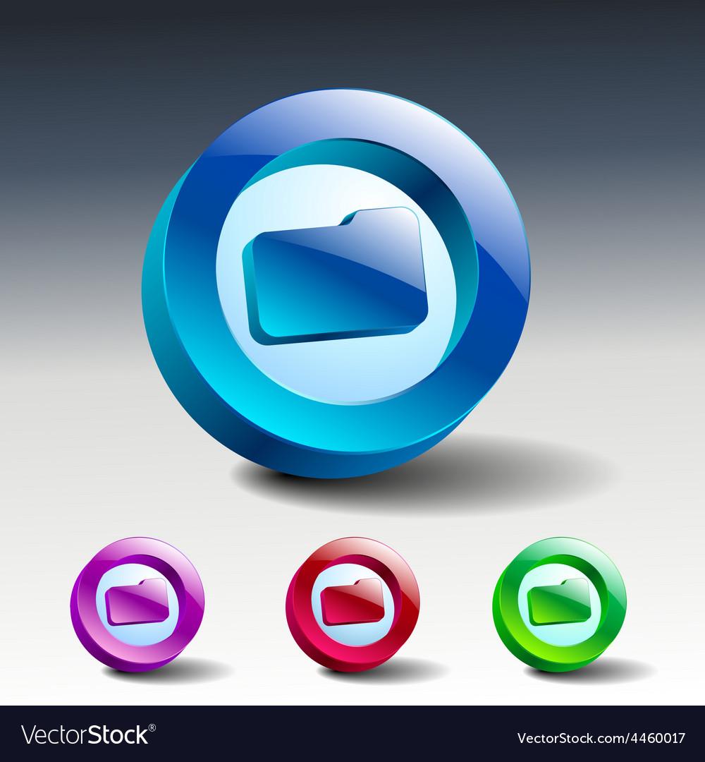 Folder file icon symbol vector | Price: 1 Credit (USD $1)
