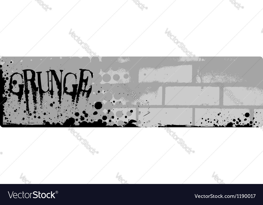Grunge brick banner vector | Price: 1 Credit (USD $1)