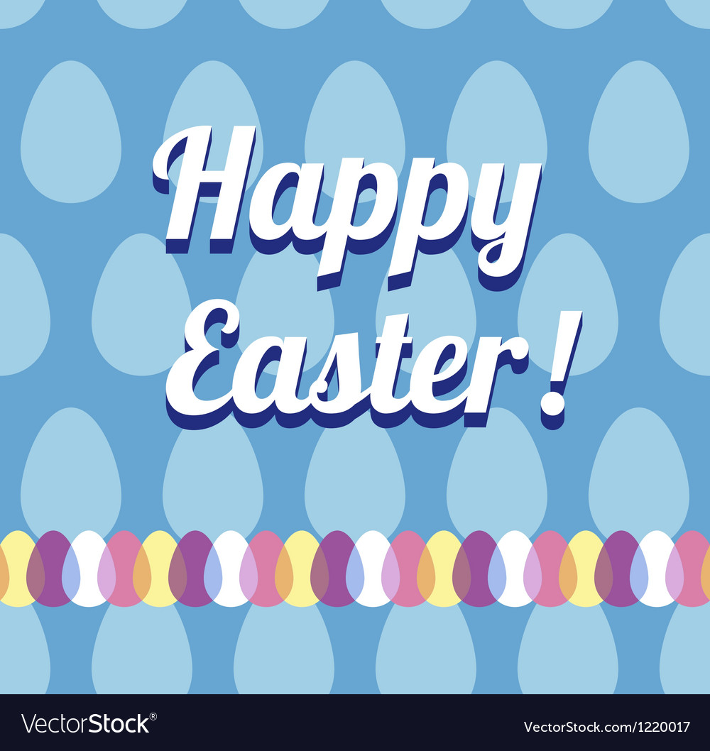 Happy easter card and seamless pattern vector | Price: 1 Credit (USD $1)