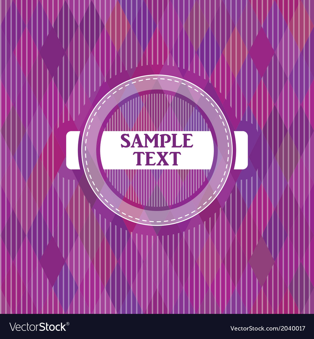 Label on a purple backgroun vector | Price: 1 Credit (USD $1)