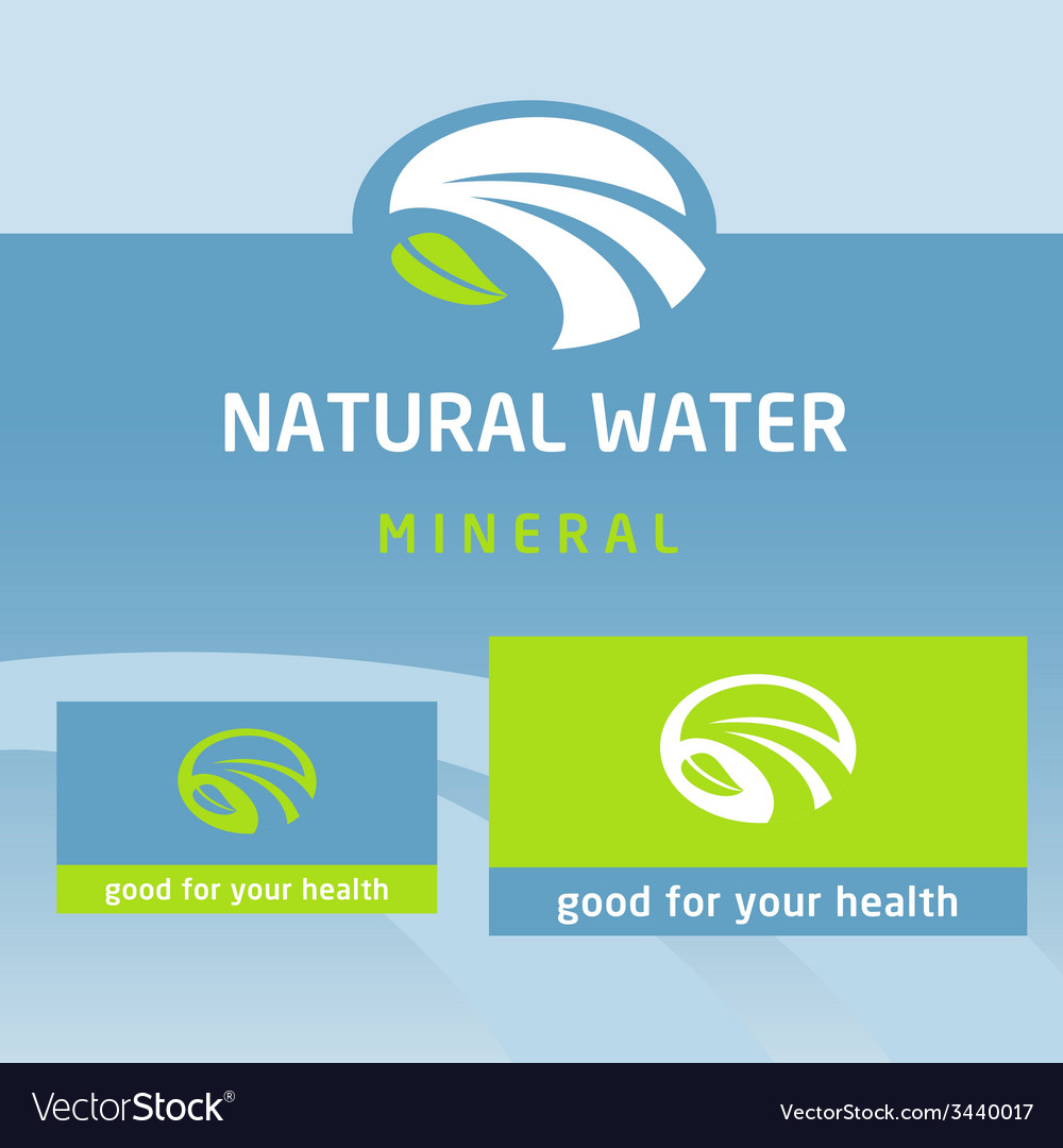 Logo label natural product water milk vector   Price: 1 Credit (USD $1)