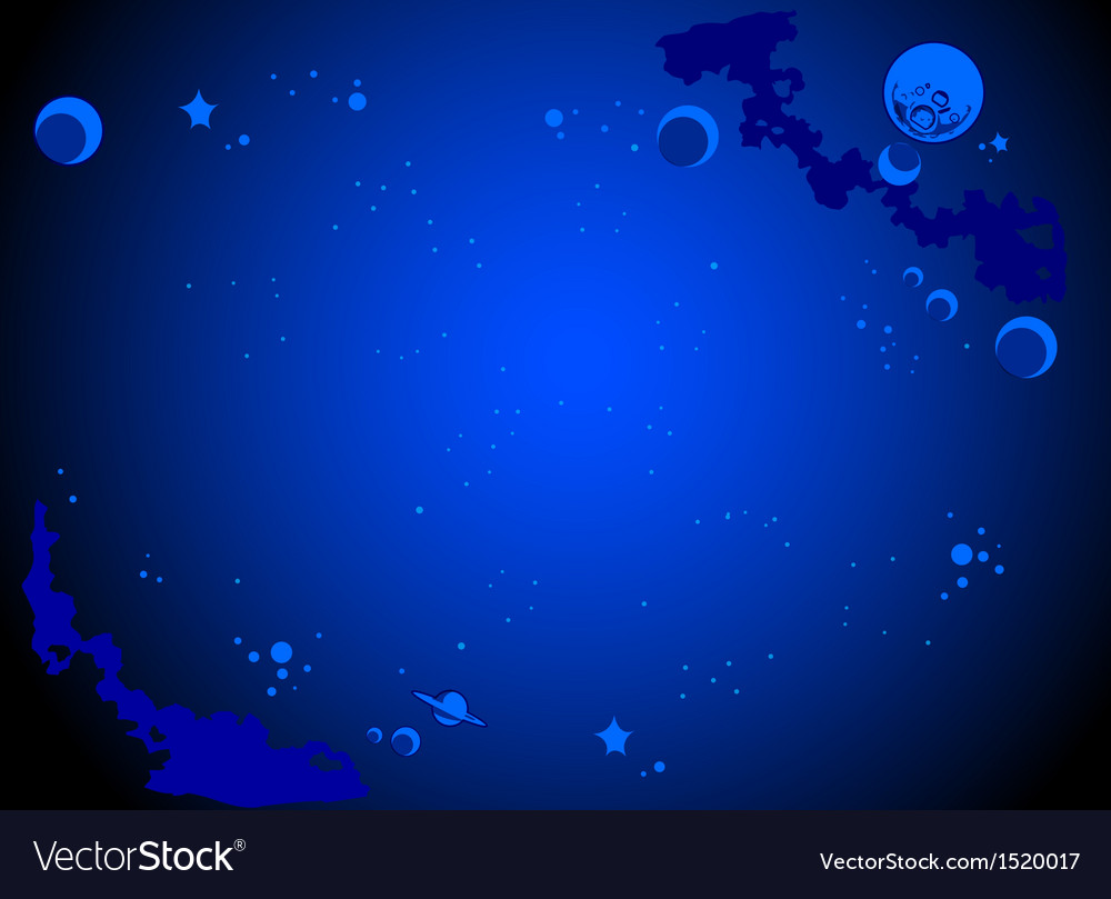 Outer space cartoon background vector | Price: 1 Credit (USD $1)