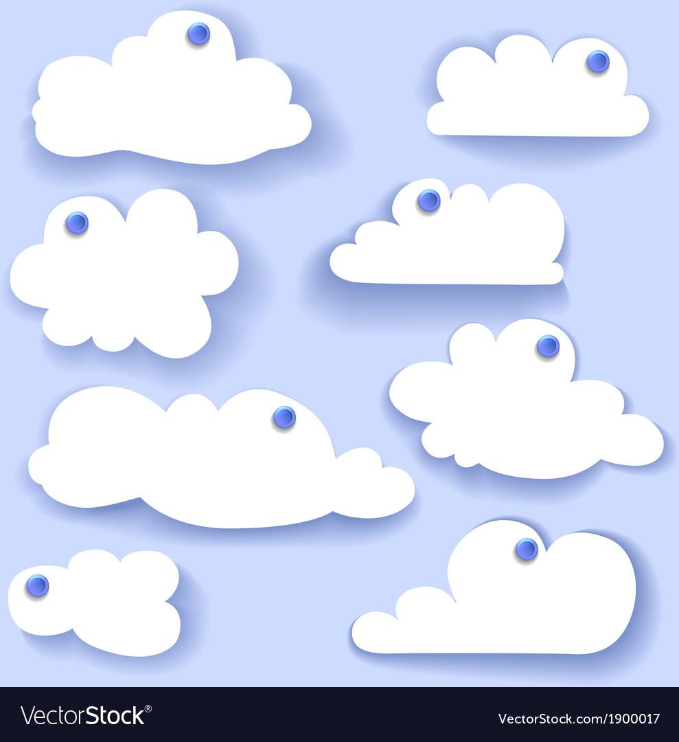 Paper speech bubble cloud sticker vector   Price: 1 Credit (USD $1)