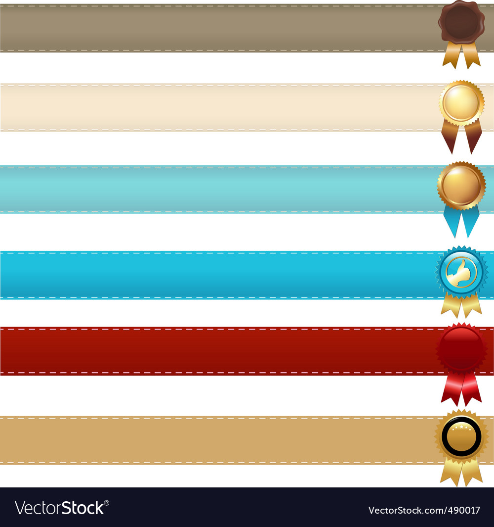 Ribbons and awards vector | Price: 1 Credit (USD $1)