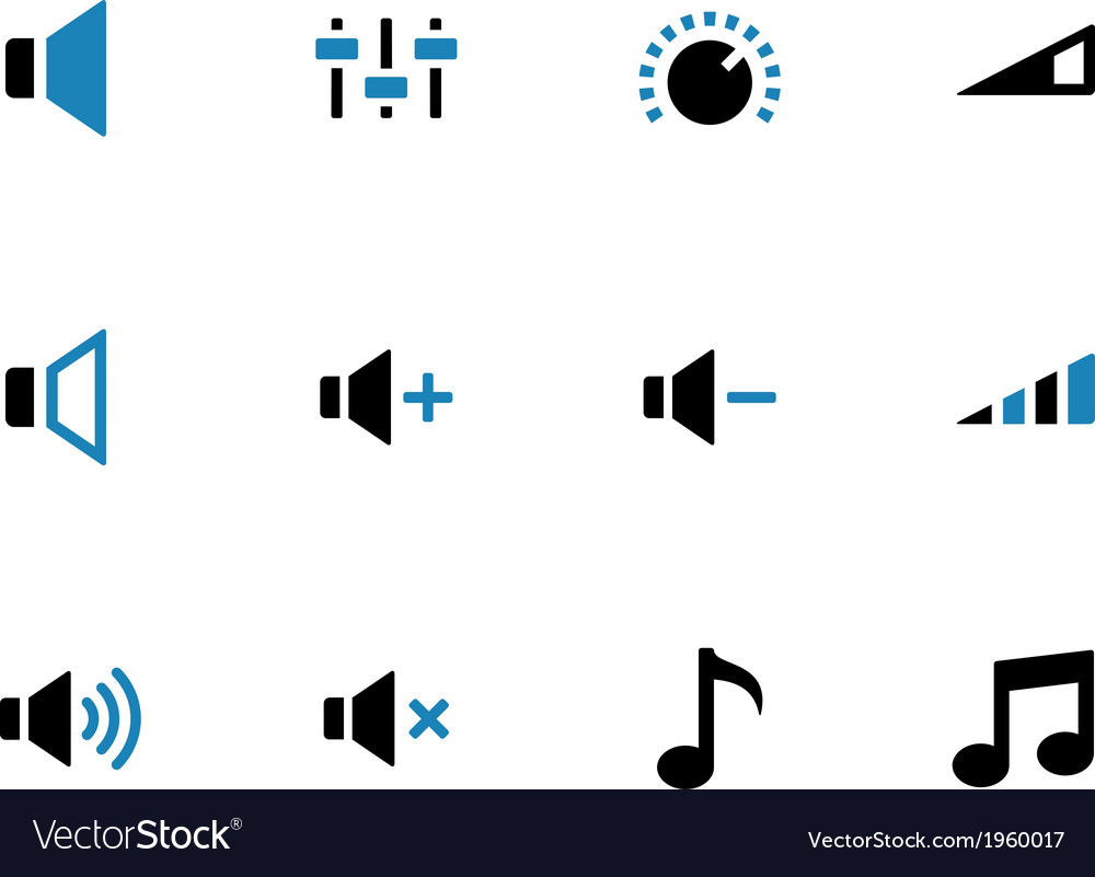 Speaker duotone icons on white background vector | Price: 1 Credit (USD $1)