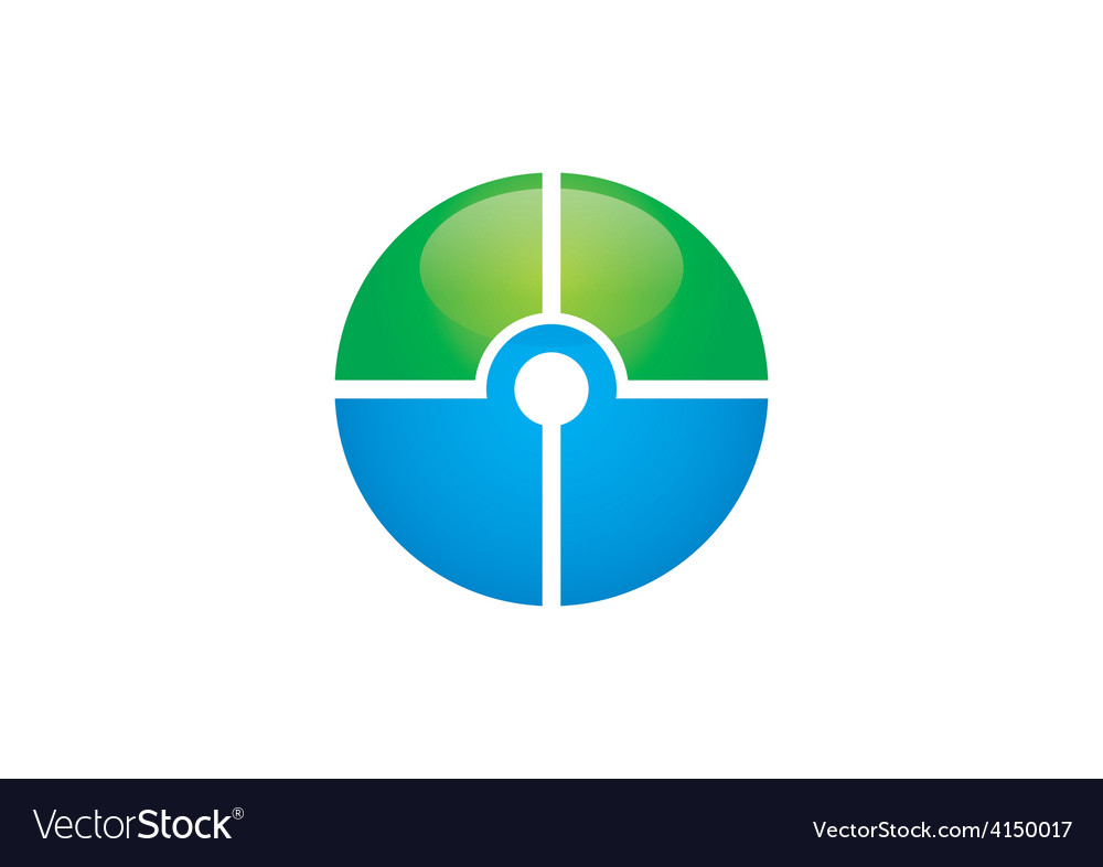 Target round circle green blue logo vector | Price: 1 Credit (USD $1)