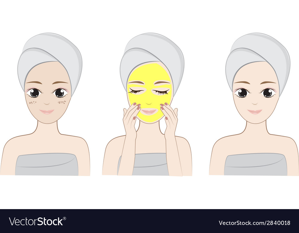 Clean face vector | Price: 1 Credit (USD $1)