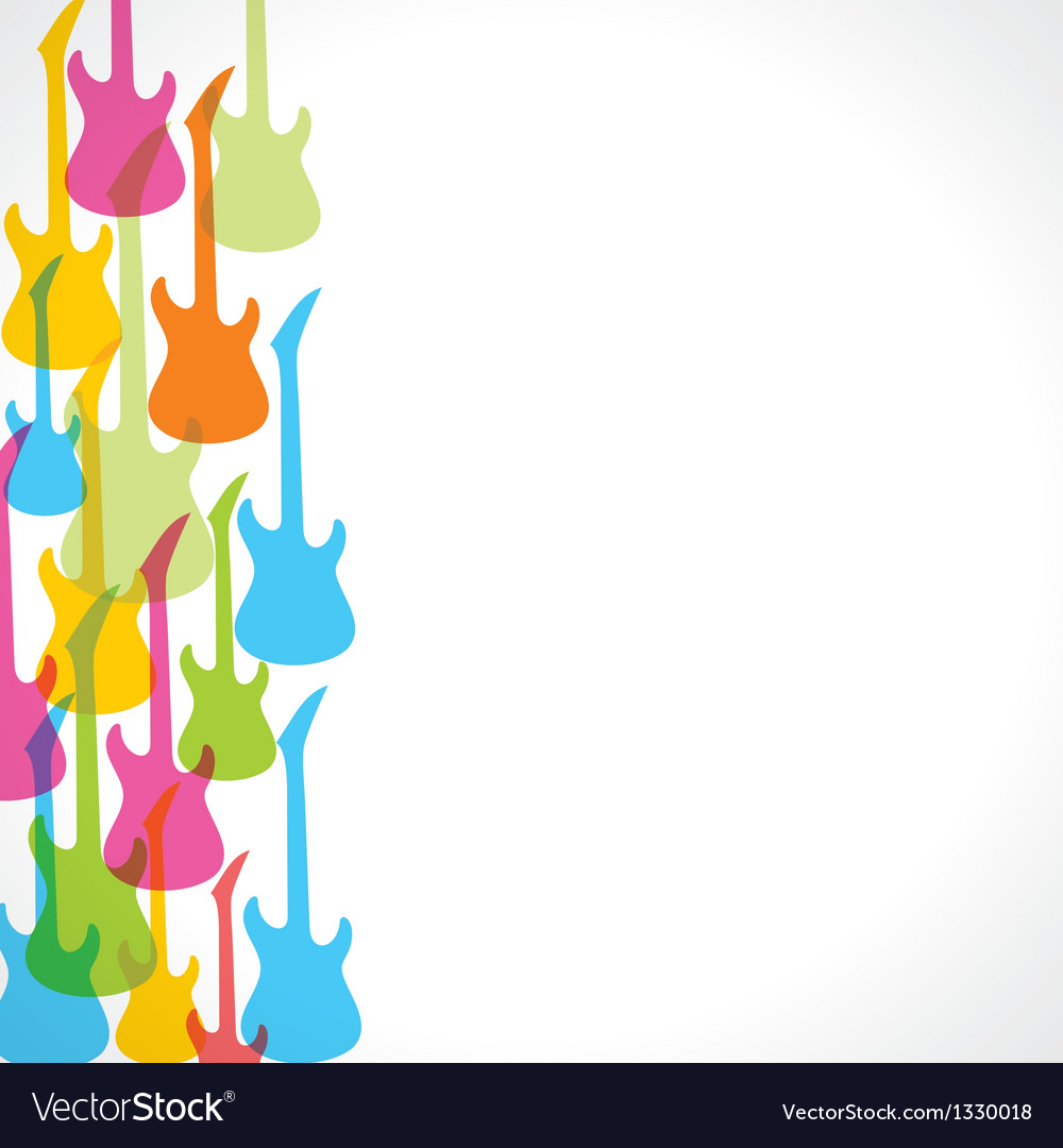 Colorful guitar design background vector | Price: 1 Credit (USD $1)