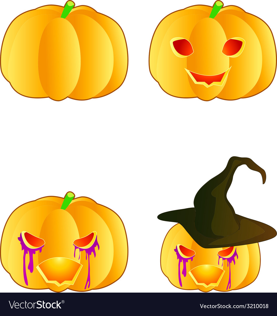 Halloween pumpkin vector | Price: 1 Credit (USD $1)