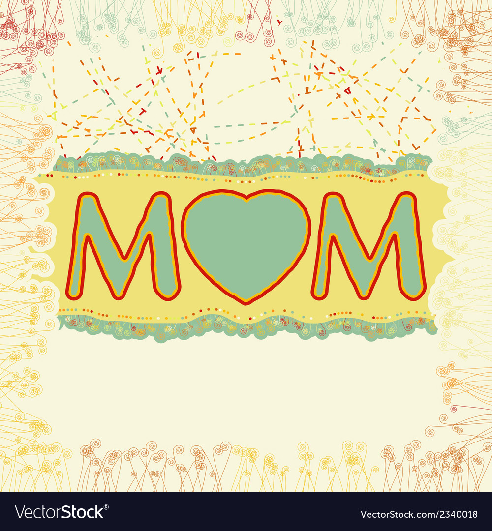 Happy mothers day eps 8 vector | Price: 1 Credit (USD $1)