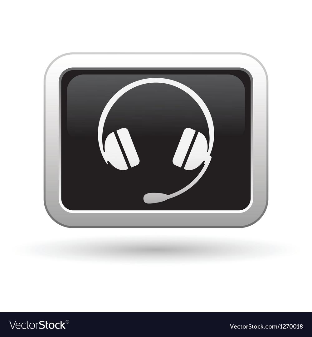 Headphones icon vector   Price: 1 Credit (USD $1)