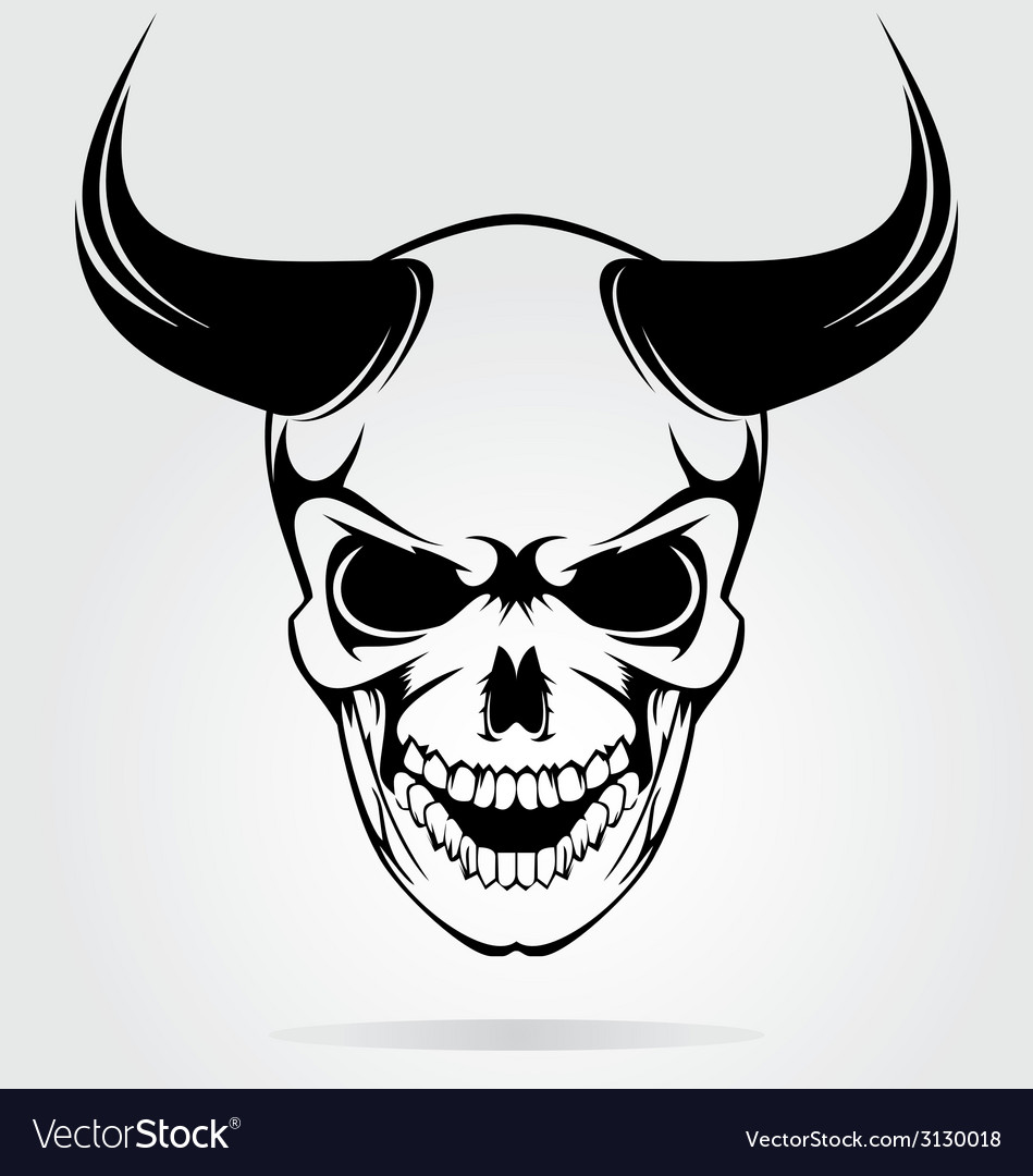 Skull of devils vector | Price: 1 Credit (USD $1)