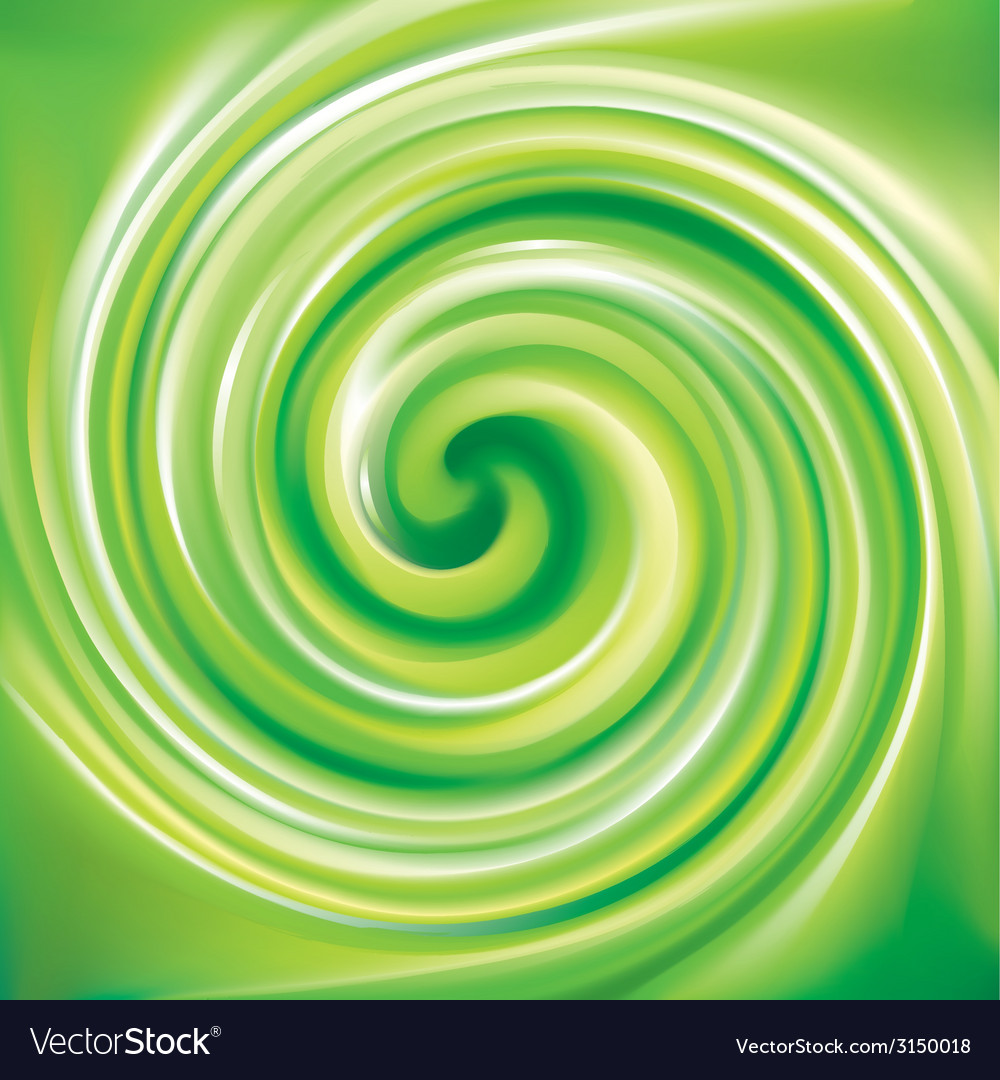 Spiral liquid surface light green color vector | Price: 1 Credit (USD $1)