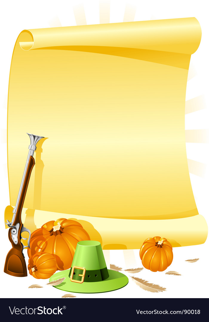 Thanksgiving banquet invitation vector | Price: 1 Credit (USD $1)
