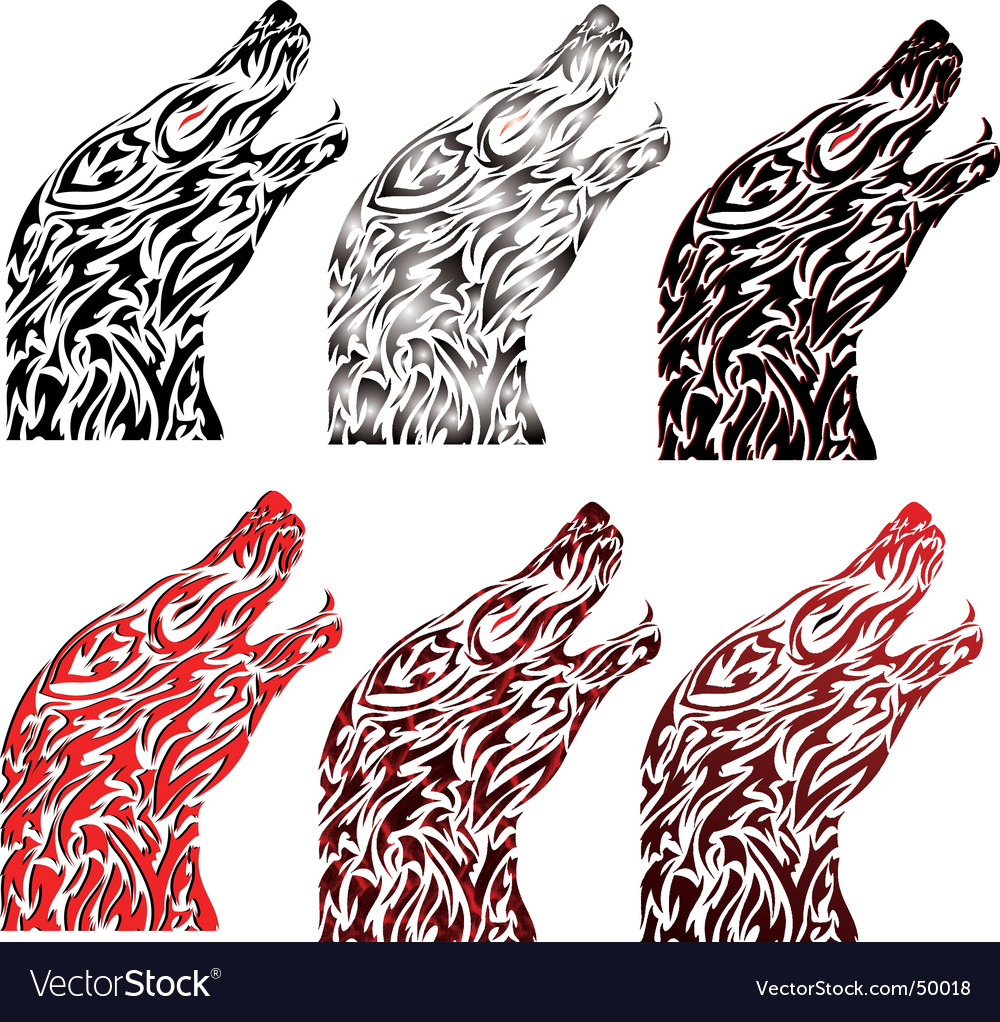 Wolf tattoo vector | Price: 1 Credit (USD $1)