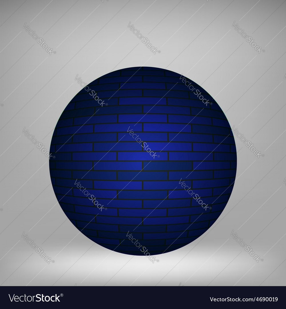 Blue sphere vector | Price: 1 Credit (USD $1)