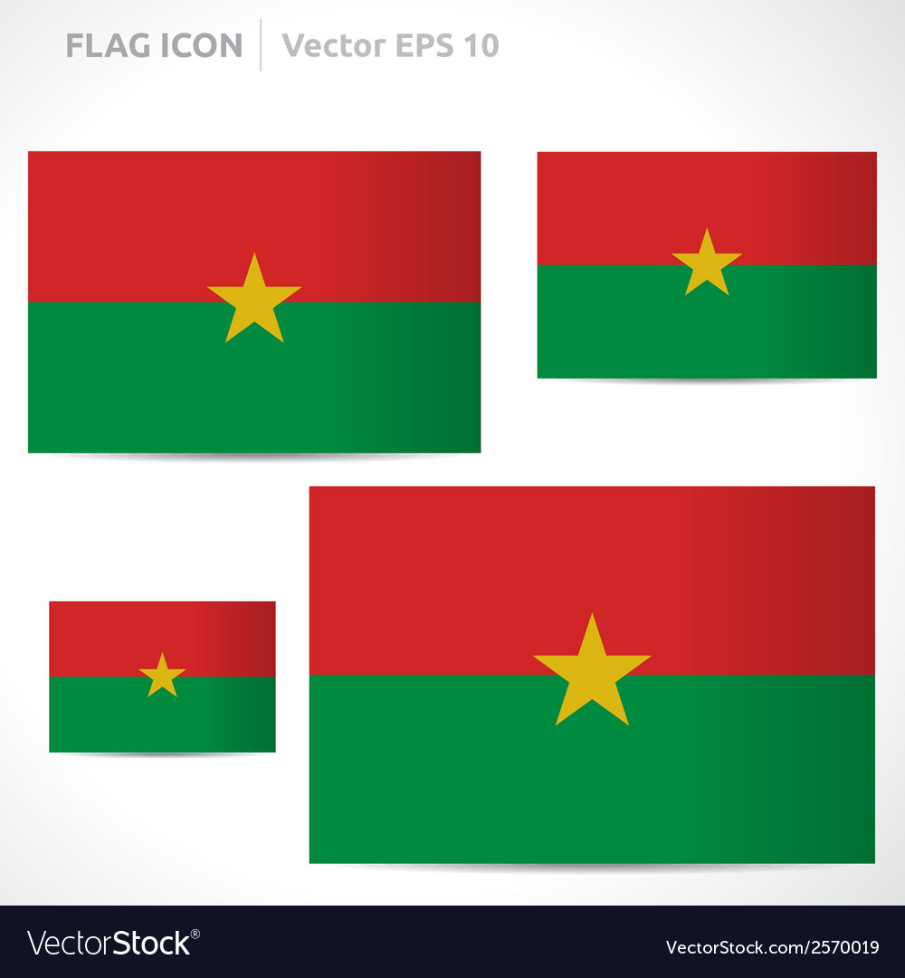 Burkina faso flag template vector | Price: 1 Credit (USD $1)